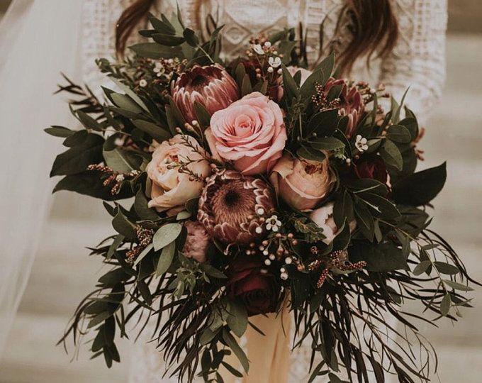 Wedding Wednesday :: Lush, Grand, Bohemian Bridal Bouquets