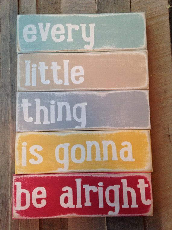 every little thing is gonna be alright Bob Marley lyrics wooden sign handpainted wood sign typography wood art on Etsy, $35.00