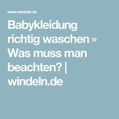 Babykleidung richtig waschen » Was muss man beachten?   windeln.de