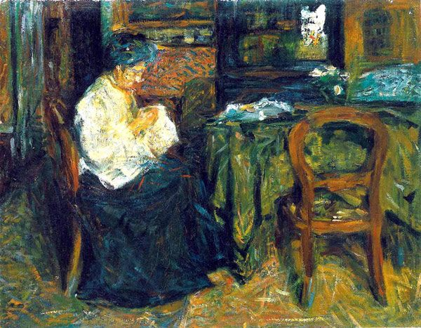 Mario Sironi Madre che cuce 1905-06