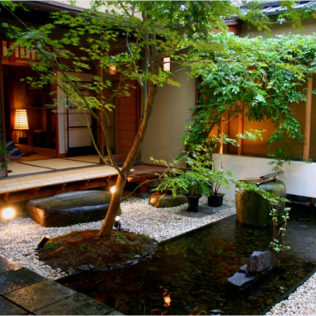 A garden landscape in a small space.