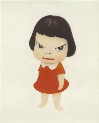 Try writing a short children's story around this character. What's she so pissed off about? -- Yoshimoto Nara
