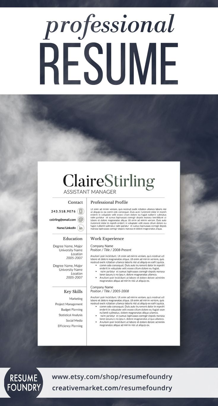 modern resume template the claire resume helpmy - Help With My Resume