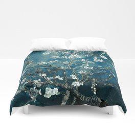 Van Gogh Almond Blossoms : Dark Teal Duvet Cover#duvetcovers #bedroomaccessories #bedspreads #homedecor #diy