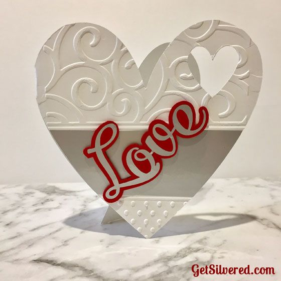 Heart Shaped Card with Free SVG Cutting File