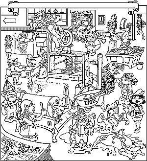 free santas workshop coloring pages - photo#9