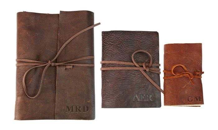 Monogram Online: Custom Genuine Rustic Leather-Bound Journals from Monogram Online