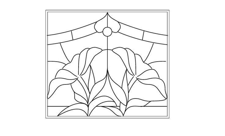 stained glass patterns | stained glass patterns for free: Stained glass flower patterns - flowers