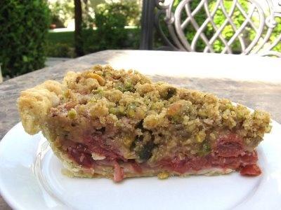 Sweet Melissa Sundays: Sour Cherry Pie with Pistachio Crumble