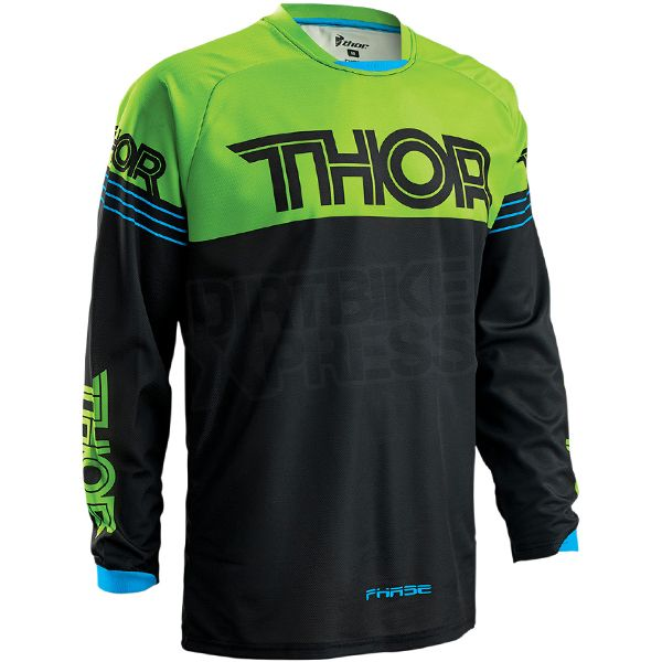 2016 Thor Phase Kids Jersey - Hyperion Black Green