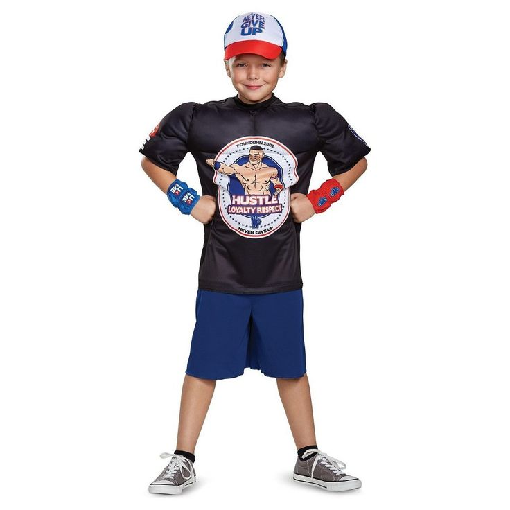 Boys' Wwe John Cena Classic Muscle Child Costume L(10-12), Boy's, Multicolored