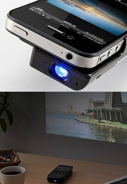 Pocket Projector for iPhone 4 Devices at Brookstone—Buy Now!