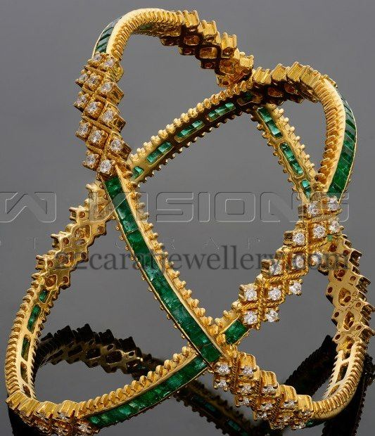 Jewellery Designs: Classy Bangles by Vaibhav Jewellers