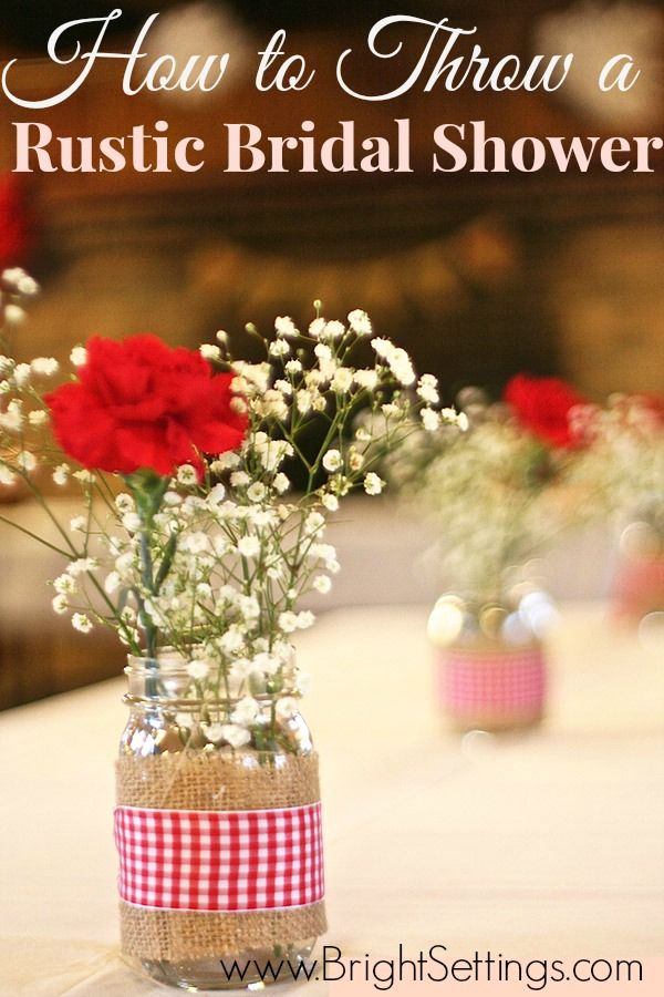 How to Throw a Rustic Bridal Shower- cute tips and DIY projects!