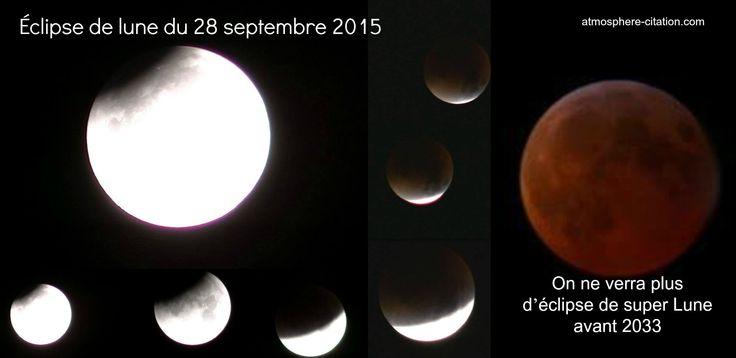 Éclipse de lune du 28 septembre 2015  Trouvez encore plus de citations et de dictons sur: http://www.atmosphere-citation.com/article/eclipse-de-lune-rouge.html?