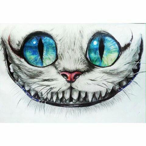 Gato risonho - Alice no país das maravilhas