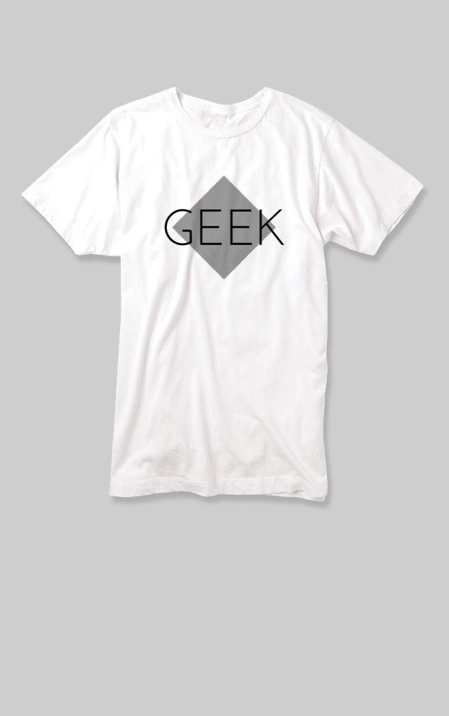 Geek Men's White T-shirt by WIE. Get it while it's hot! Check out my custom t-shirt, for sale for a limited time through Makr: http://marketplace.makrplace.com/campaigns/546753eda7916902009cd56a