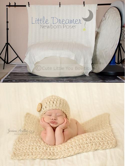 Newborn pose bean bag poser cute little you bowtique