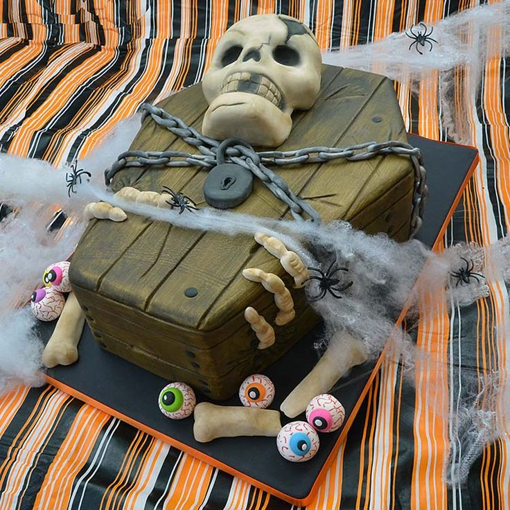 Cráneo de Halloween Cake