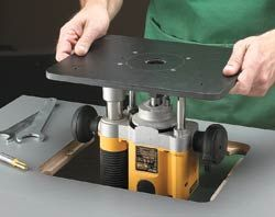 630 best router jigs fences tables and techniques images on easy way to install the router plate to fit perfectly keyboard keysfo Gallery