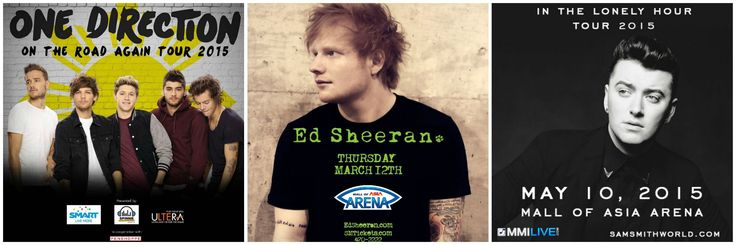 One Direction, Ed Sheeran and Sam Smith Tops SM Mall of Asia Arena Concert Line-Up For 2015