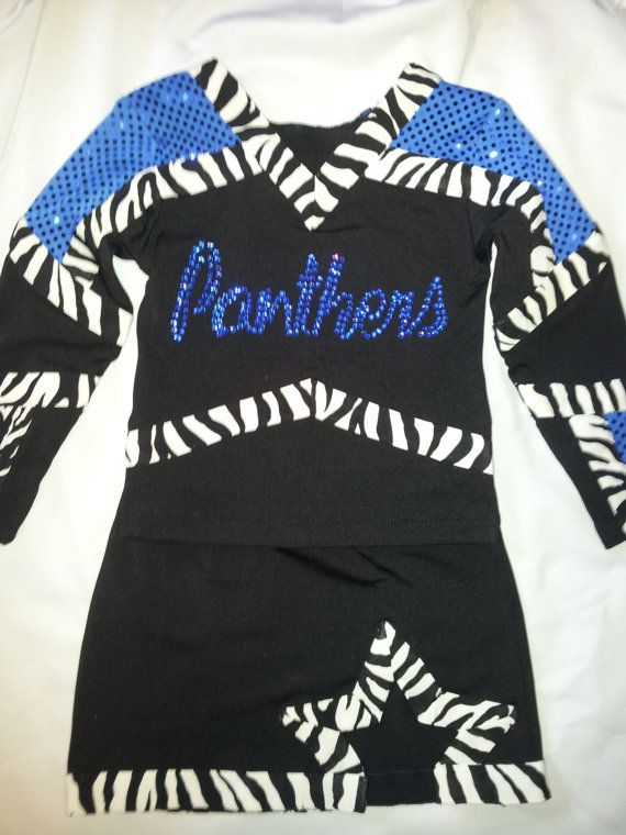 I love this one! Sequin Sparkle Custom Cheer Uniform with Crystal and Zebra Print- perfect for All Star Comp, Pageant, or Dress Up