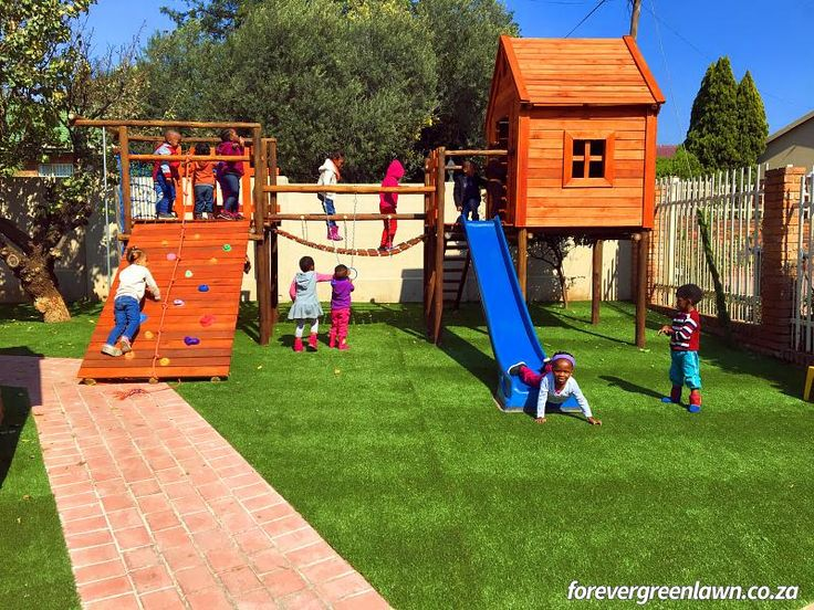 A preschool playground we completed with artificial grass in Pretoria, Tshwane, South Africa.