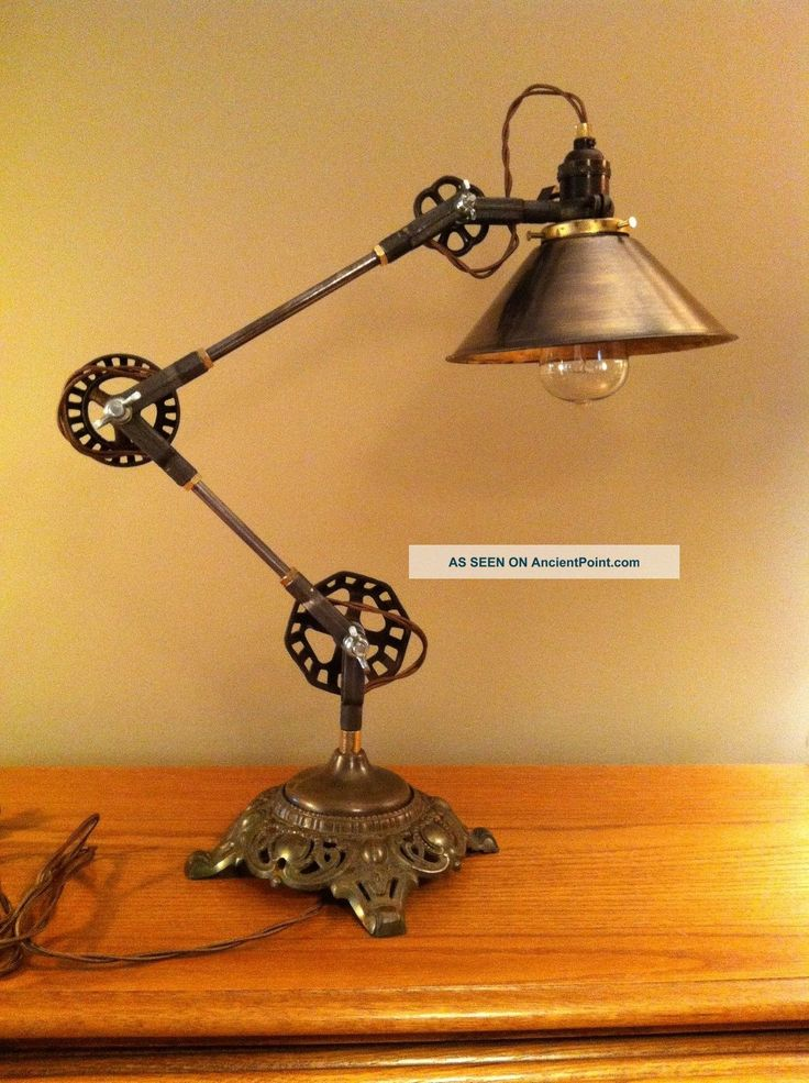 Best 25 steampunk lamp ideas on pinterest pipe lighting vintage industrial lighting and - Desk lighting ideas ...