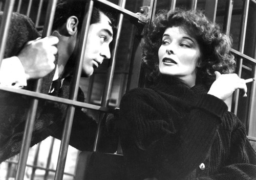 "Katherine Hepburn + Carey Grant in ""Bringing Up Baby,"" 1938.    Directed by Howard Hawkes"