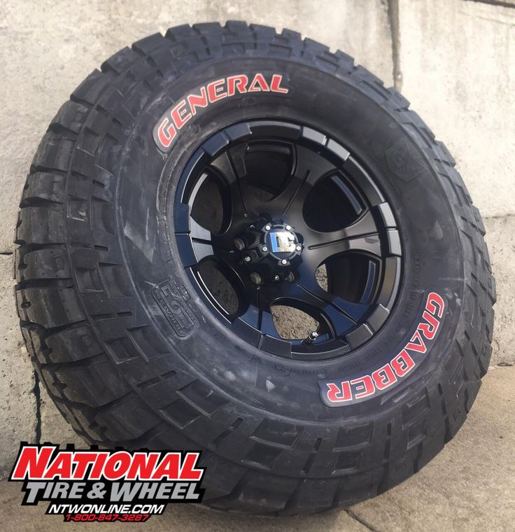 """15X8 Dick Cepek Blackout / 33X12.50R15 General Tire Grabber. Click the """"Visit"""" button above to begin building your own custom wheel and tire package where you will receive an immediate price quote. You can also head over to ntwonline.com to see our entire selection plus prices, or you can call (800) 847-3287 to speak to a Sales Rep."""