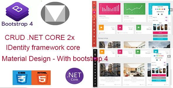 Material Dashboard Net Core Is A Premium Material Bootstrap 4