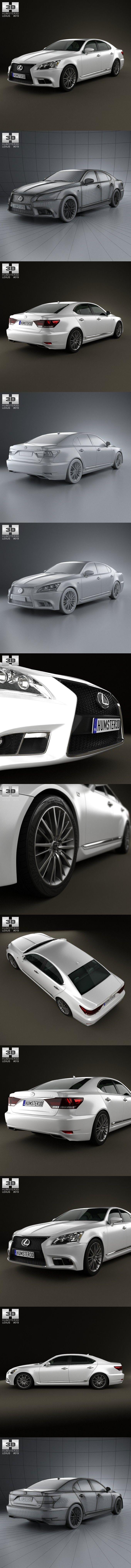 Lexus LS F sport (XF40) 2012. 3D Vehicles