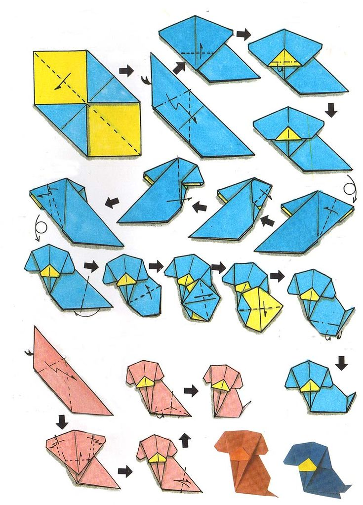 origami dog instructions - Google Search