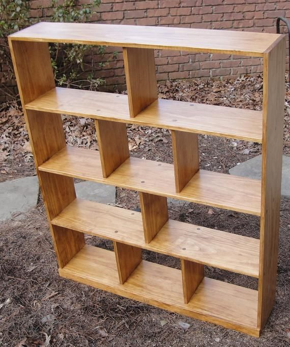 Mr2 44 Wide By 54 High Custom Hand Crafted Open Back Bookcase Or Room Divider In 2020 Bookcase Diy Furniture Shadow Box