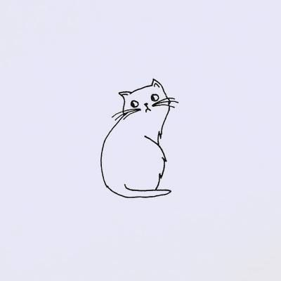 cat illustration I ABSOLUTELY LOVE THIS!!! and it's just a simple line drawing