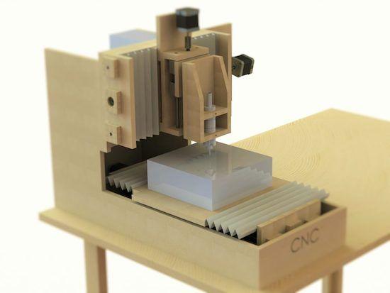 Arduino Blog – Homemade MDF desktop CNC router for €200