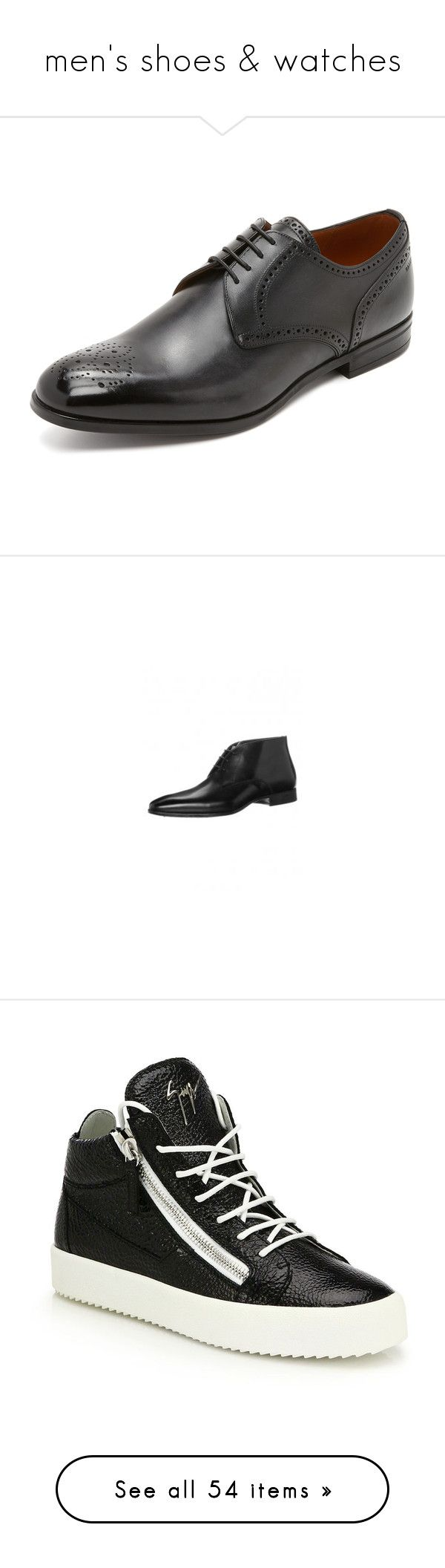 """""""men's shoes & watches"""" by evenaka ❤ liked on Polyvore featuring men's fashion, men's shoes, men's dress shoes, black, mens derby shoes, bally mens shoes, mens black dress shoes, mens black leather shoes, mens cap toe dress shoes and mens brogue shoes"""