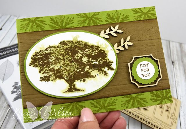 Nicole Wilson Independent Stampin' Up!® Demonstrator  Rooted in Nature, Natures Roots just for you card with frames wood elements #stampinup #onstage #onstage18 #stampinup30 #nicolewilsonstamp #rootedinnature #wood #displaystamper