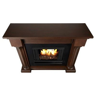 Real Flame - Verona Gel Fireplace-Chestnut Oak, Chestnut Oak
