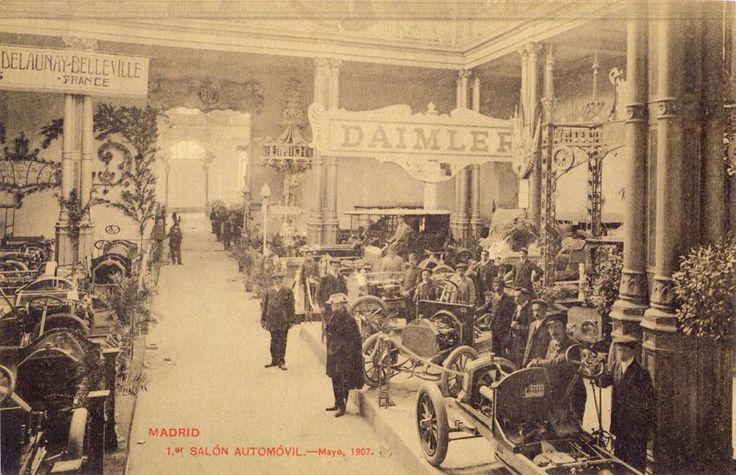 Primer salón del automóvil de Madrid.Mayo 1907. De Madrid al cielo: Álbum de fotografías y documentos históricos. - Urbanity.cc