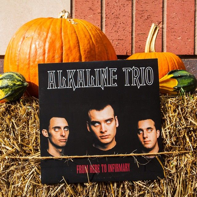 """Trick or treat, y'all! ""From Here to Infirmary"" from Alkaline Trio for $5 if you're first to act! Tap the link in our bio (@fivebuckvinyl) to buy.  Sold…"""