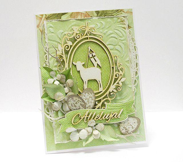 Już niedługo Wielkanoc i pora najwyższa na świąteczne kartki. Królują dziś u mnie produkty z Agaterii. Piękna tekturka z barankiem , napis ...