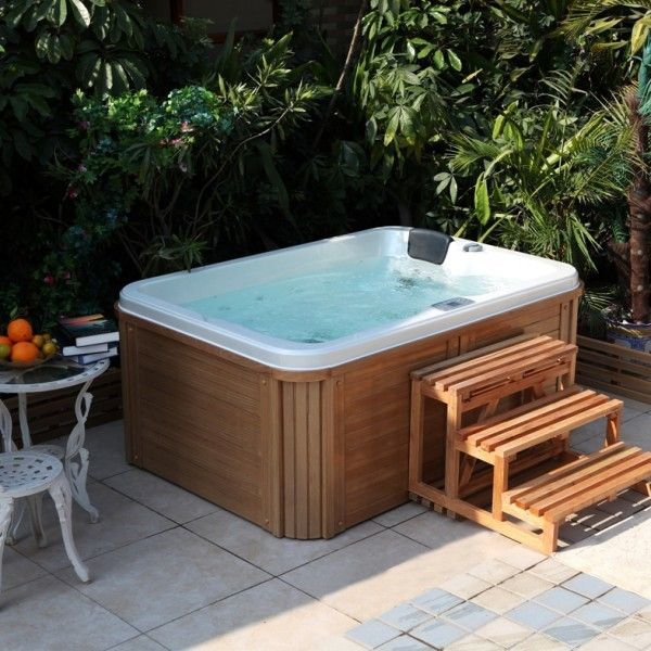 25 best ideas about spa jacuzzi on pinterest spa for Salon exterieure