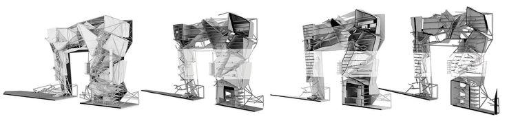 NoNames Design: Gateway    . . . #nonamesdesign #architecture #diagram #process #form #highrise #skyscraper #sequence #diagram #dubai #vertical #city