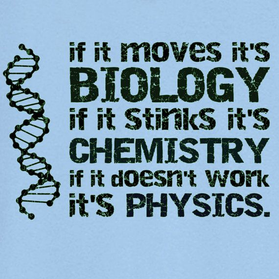 Biology Chemistry Physics Novelty T Shirt Z12027 by RogueAttire, $18.99