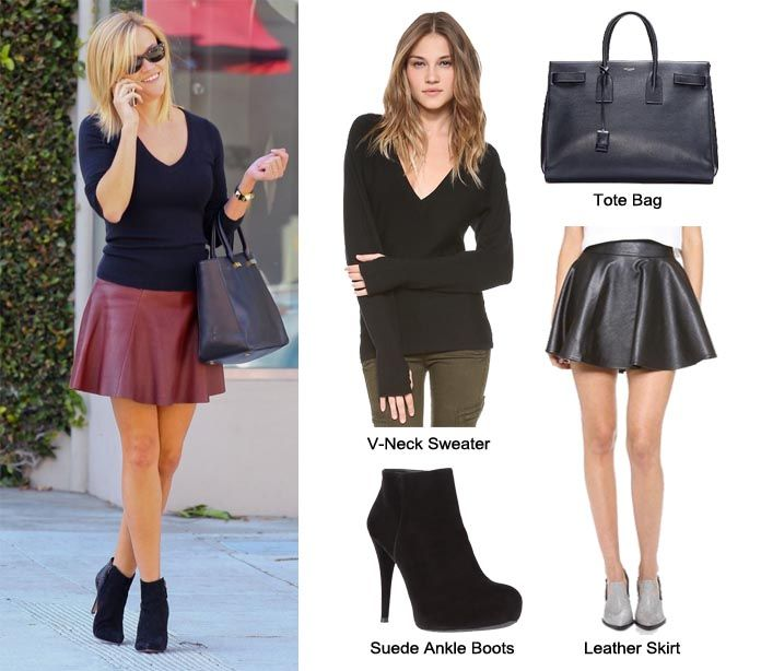 Reese Whiterspoon edgy preppy look at Beverly Hills