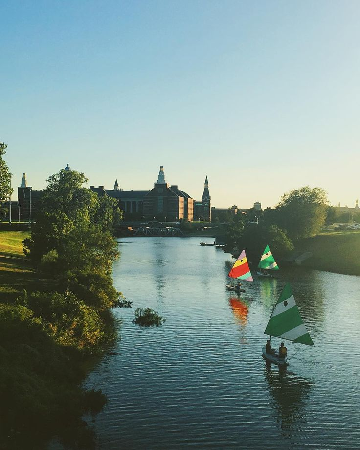 Sailing on the Brazos River at Baylor University.
