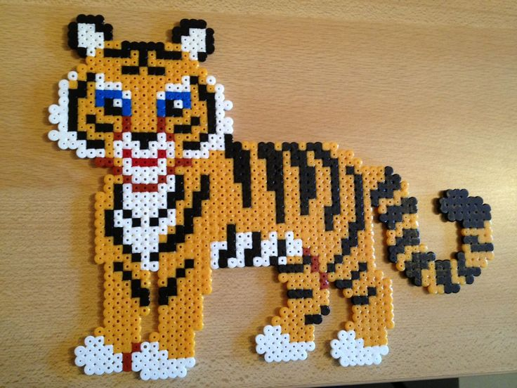 Tiger hama beads by elsjef82