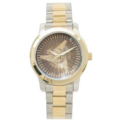 Gold Lowrider Low Rider Wire Wheels Wrist Watch - accessories accessory gift idea stylish unique custom