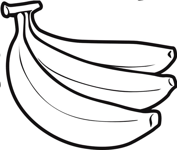 Banana clipart black and white | Bananas for Books | Pinterest | Black ...